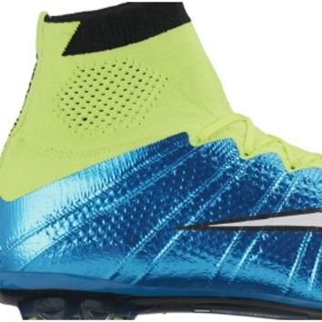Nike Women's Mercurial Superfly FG Soccer Cleats - Blue/Volt | DICK'S Sporting Goods