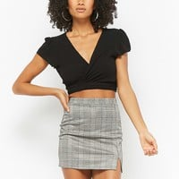 Glen Plaid Mini Skirt - Women - New Arrivals - 2000280173 - Forever 21 Canada English
