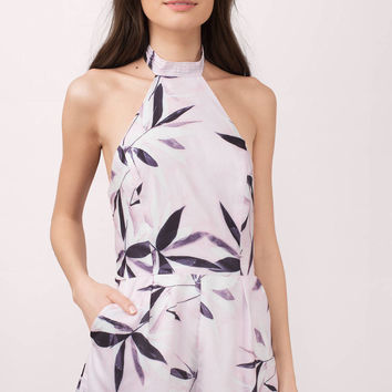 Brooklyn Halter Palm Print Romper