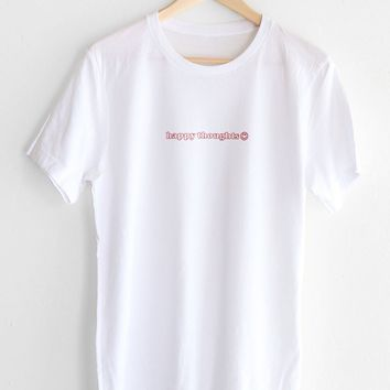 Happy Thoughts Tee - White