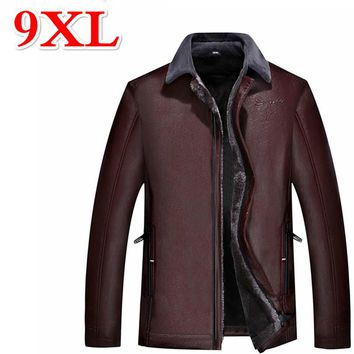 9XL 8XL 7XL sells 6XL 5XL leather leather jacket everyday to the men's leather jackets of winter men