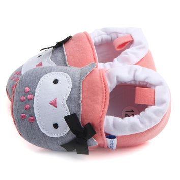 Cute Boy Girl Baby Soft Shoes Fring Soft Soled Non-Slip Footwear Crib Shoes
