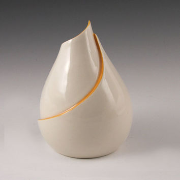 DISCOUNTED Curvy Vase with Orange Accent - second
