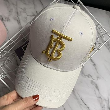 Burberry Woman Men Embroidery Sport Baseball Hat Cap