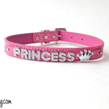 CUSTOM BDSM COLLAR personalized bondage gear submissive little babygirl daddy's  owned cuckold slave leather rhinestone ddlg role play