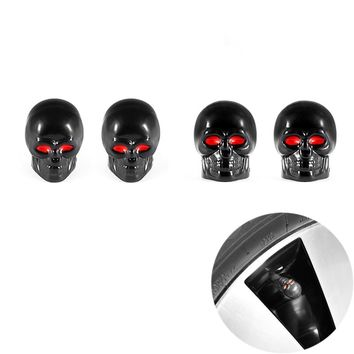4Pcs/lot  Skull Moto Bicycle Car Tires Wheel Valve Cap Dust Cover car styling for bmw ford lada toyota honda opel mazda