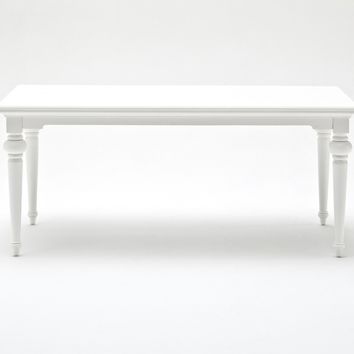 "Provence 71"" Dining Table White semi-gloss"