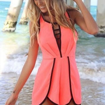 Sleeveless Cutout Short Jumpsuit