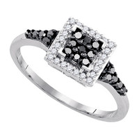 Diamond Fashion Ring in White Gold-plated silver 0.3 ctw