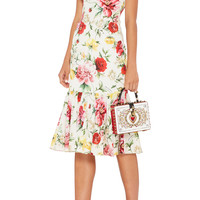 Floral-Print Stretch-Silk Dress | Moda Operandi