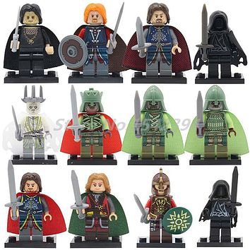 Super Heroes King of the Dead Lord of the Rings Action Model Single Sale Building Blocks Witch-King Bricks Toys For Children
