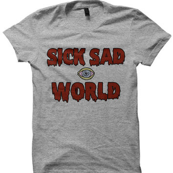 Sick Sad World T-shirt Tshirt Daria Shirt 90s Clothing Fashion Shirt Top Sweater 90s Grunge 1990's Funny Shirts for Men Women Retro Vintage