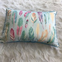 Pastel Feathers Pillow