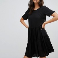 Vero Moda Tiered Smock Dress at asos.com