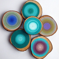 6 For 99 Special Modern Tree Circle Art by HeatherMontgomeryArt