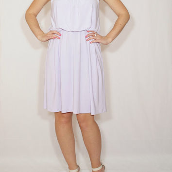 Short lavender dress Pale purple Bridesmaid dress Short dress Party dress