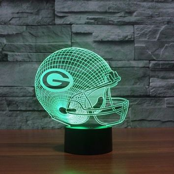 Green Bay Packers 3D Helmet Light