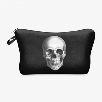 Skull handbags  Makeup Bag Stationery purse