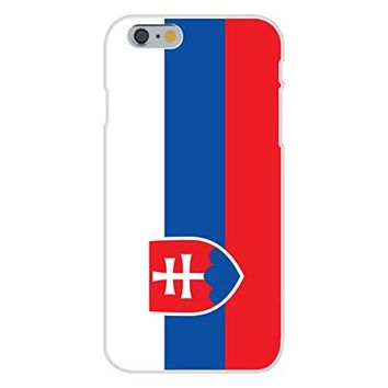 Apple iPhone 6 Custom Case White Plastic Snap On - Slovakia - World Country National Flags