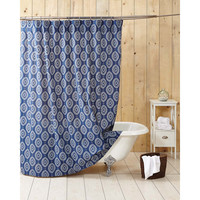 Paloma Indigo Shower Curtain