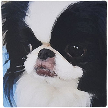 3dRose LLC 8 x 8 x 0.25 Inches Mouse Pad, Japanese Chin (mp_4242_1)
