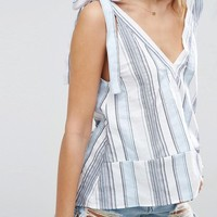 ASOS Swing Tank in Stripe with Tie Shoulder at asos.com