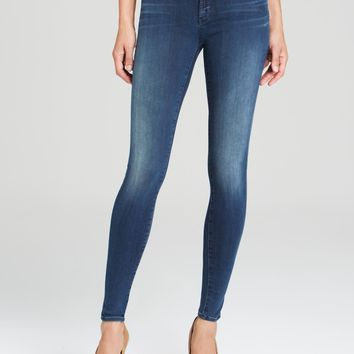 NWT J Brand 910 Blue Stocking Mid Rise Super Skinny Jeans, Suspense Wash, Sz 31