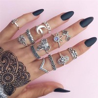 13pcs Set Midi Rings