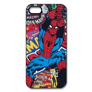 Vcapk Marvel Comics Super Hero Spider Man movie iPhone 5,5S Hard Plastic Phone Case