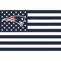 New England Patriots  3 x 5 Foot Stars and Stripes Flag