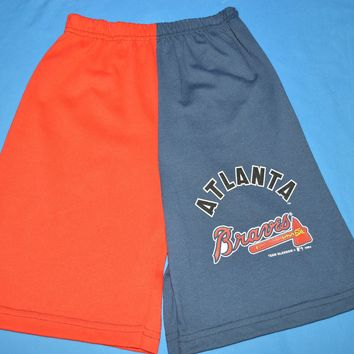 90s Atlanta Braves Two Tone Boy's Baseball Shorts Size 10