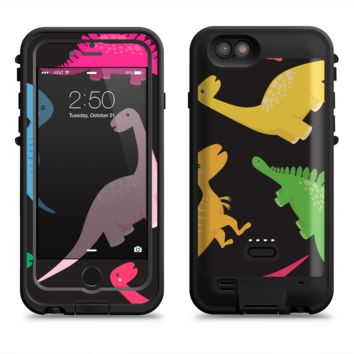 The Vector Neon Dinosaur  iPhone 6/6s Plus LifeProof Fre POWER Case Skin Kit