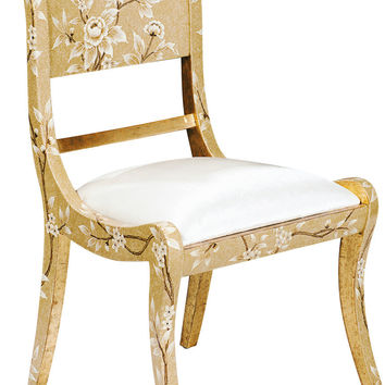 Gilded Wood Regency Style Dining and Desk Chair