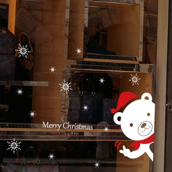 Christmas Snowman Removable Home Decorative Vinyl Window Wall Stickers Decal Decor#25