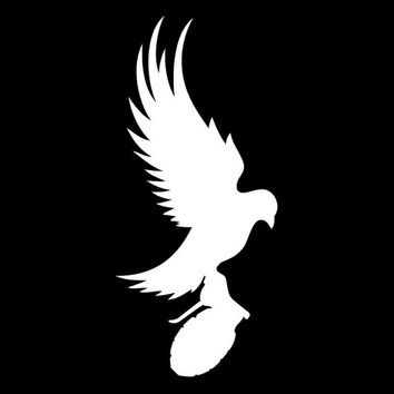 Dove And Grenade Hollywood Undead Car Window iPad Notebook Decal Sticker, 1 Free Decal