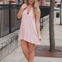 Flirting with the Line Tunic - Blush