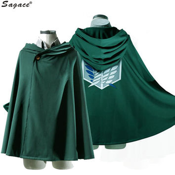 Sagace Anime Shingeki no Kyojin Cloak Cape Clothes Unisex Coser Cloak Cartoon Costumes Cosplay Attack on Titan Plus Size Aug18