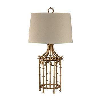 Bamboo Birdcage Table Lamp