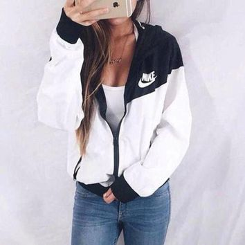 "Winter Fashion ""NIKE"" Hooded Zipper Cardigan Sweatshirt Jacket Coat Windbreaker Sportswear hashtag clothes"