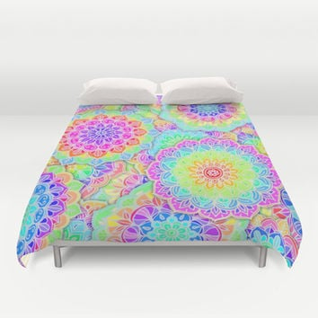 Psychedelic Summer Duvet Cover by micklyn