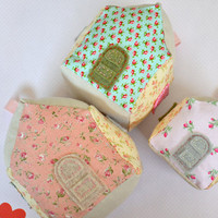 Little Fabric Houses, Decorative, Pincushion
