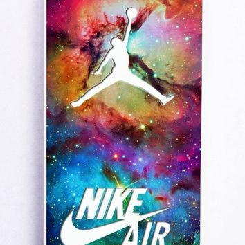 iPhone 5 Case - Hard (PC) Cover with Galaxy Nike Jordan Plastic Case Design