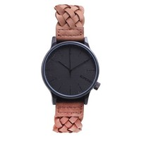 KOMONO Unisex KOM-W2031 Winston Woven Series Analog Display Japanese Quartz Brown Watch