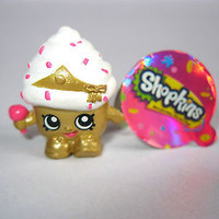 SHOPKINS CUPCAKE QUEEN Limited Edition 1-137 Season 1 golden gold cake NEW Rare