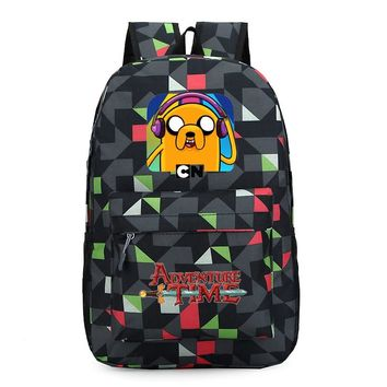 Adventure Time Finn and Jake backpack Boy Girl for teenagers Student School Bags travel Shoulder Bag Laptop Bags bookbag