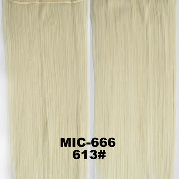 "Wig,Hair Extension,Clip in synthetic hair extension,5 clips ponytail,Heat resistance synthetic fibre,MIC-666 613#,100 g 24 "" 1PCS"