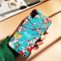 For iPhone X Cartoon Case Alice Soft Coque Phone Cases for Apple iPhone 7 7plus 8 8plus 6 6S 6P Alice in Wonderland shell case