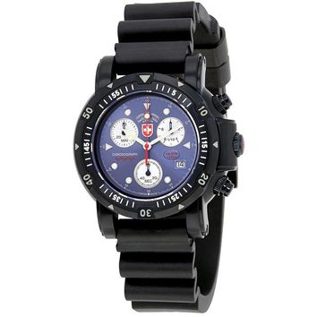 Swiss Military Seawolf I Chronograph Blue Dial Mens Watch 2417