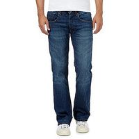 Mens Red Herring Dark blue bootcut jeans