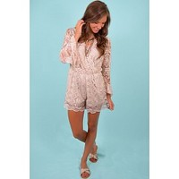Nights Like This Romper in Sand